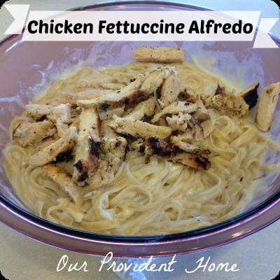 Chicken Fettuccine Alfredo using my super easy white sauce mix